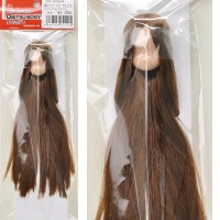 11HD-D01NC04 Obitsu 11cm Doll Natural Head 01 Rooted Hair Brown