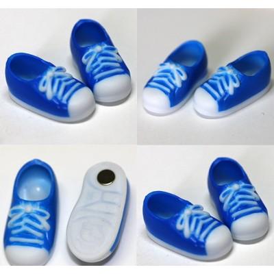11SH-F004BL-G Obitsu 11cm Body Doll Shoes Magnet Sneaker Blue