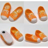 11SH-F004OR-G Obitsu 11cm Body Doll Shoes Magnet Sneaker Orange