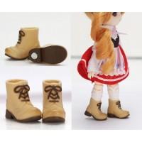 11SH-F005WB-G Obitsu 11cm Doll Shoes Magnet Short Boots Beige