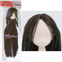 21HD-F01WC02 Obitsu 21cm Female White Head 01 Long D.Brown Hair