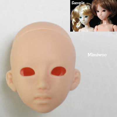 21HD-F03N Obitsu 1/6 Female Doll Head w Eye Holes - 03 Natural