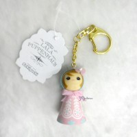 Sekiguchi Otome Kokeshi Ribbon Chan Keychain Pink 225040