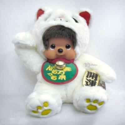 231966 Sekiguchi Monchhichi L Size MCC Softy Head Lucky Cat