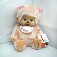 233090 Monchhichi Designer's Softy Sitting MCC (L) Twin Pig Tail