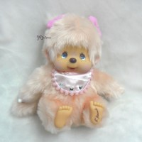233130 Monchhichi Designer's Softy Sitting MCC (M) Twin Pig Tail