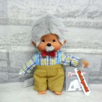Monchhichi S Plush MCC Grandpa with Mustache 233140
