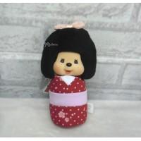 "Monchhichi 7"" Bean Bag Plush MCC Kokeshi Girl Red 242481"