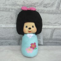 "Monchhichi 7"" Bean Bag Plush MCC Kokeshi Boy Blue 242498"