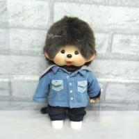Monchhichi M Size MCC Light Blue Denim Jacket Boy 242801