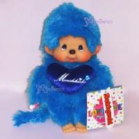 Monchhichi Plush 20cm S Size Love Love MCC Blue 243620