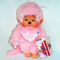 Monchhichi 20cm S Size Love Love MCC Lt. Pink 243630