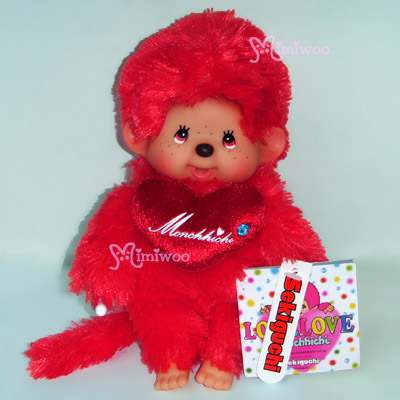 Monchhichi Plush 20cm S Size Love Love MCC Red 243670