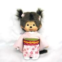 Monchhichi S Plush Twin Pigtail MCC Sakura Kimono Girl 256160