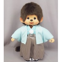 Monchhichi L Size Plush MCC Blue Kimono Boy 256341