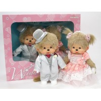 258200 Monchhichi S MCC Western Dress Up Wedding Couple Box Set