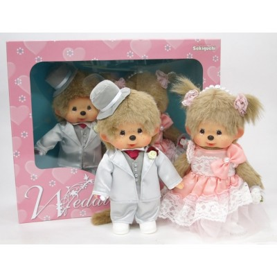 258200 Monchhichi S MCC Western Dress Up Wedding Couple Box Set