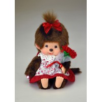 258340 Monchhichi S Size Plush MCC Flower Girl with Bouquet