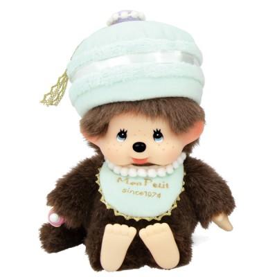258650 Monchhichi 18cm Bean Bag Plush Mon Petit MCC Macaron Boy