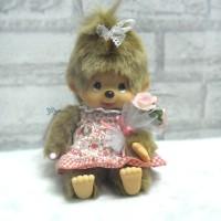 259130 Sekiguchi Monchhichi S Size Plush Sitting MCC Flower Girl