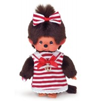 "Monchhichi S Size 8"" Plush Sailor Fashion Marine Girl 259151"