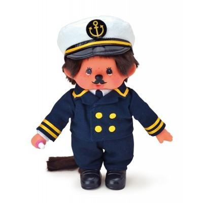 Monchhichi S Size Hard Body Doll MCC Captain Boy 259243