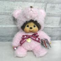 Monchhichi M Size Plush Doll Teddy Bear MCC Pink 259786