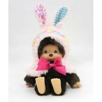 Monchhichi S Size Plush MCC Flower Bunny Cape Girl 259885