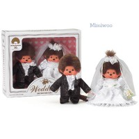 Monchhichi 30th Anniversary Western Dress Wedding Box Set 260900