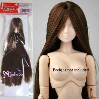 27HD-F01WC04 Obitsu 27cm White Skin Body Long Hair Head Brown