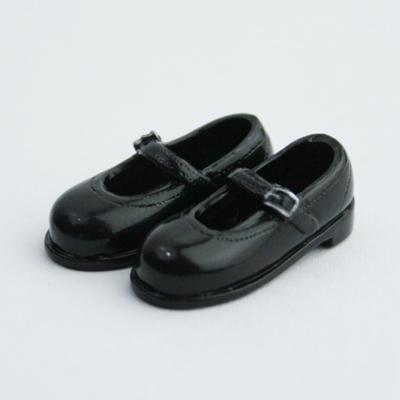 27SH-F011B Obitsu 27cm Doll 1/6 body Strapped Shoes Black