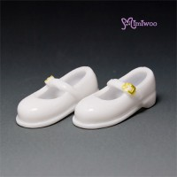 27SH-F011W Obitsu 27cm Doll 1/6 Body Strapped Shoes White