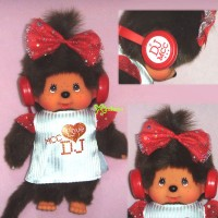 Monchhichi S Size Plush DJ MCC Disc Jockey Girl 294140