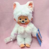 236940 Sekiguchi Monchhichi S Size Plush Doll Kitten Cat White