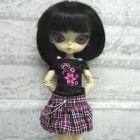 Blythe Momoko Hujoo Outfit Low Waist Skirt + Tee FLOWER 400300