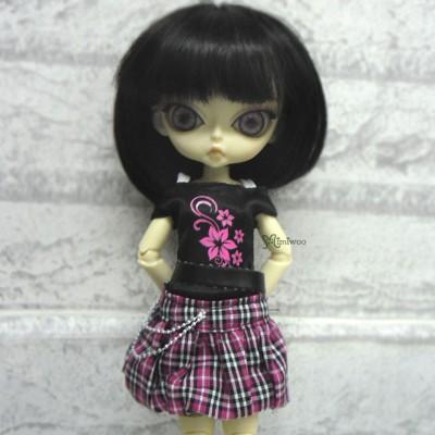 1/6 BJD Outfit Low Waist Skirt + Tee FLOWER 400300