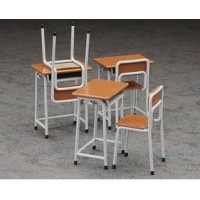 62001 Assembly Kits 1/12 Miniature Furniture School Desk & Chair