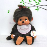 Monchhichi XL Soft Head with Bib Sitting MCC Girl 759650