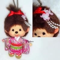 Monchhichi Big Head MCC Mascot Keychain Japan Dance Girl 780240