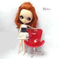 980781 1/6 Dollfie Momoko Blythe Doll Design Chair Large RED