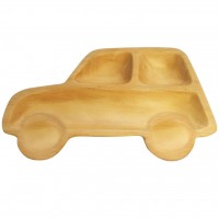AVLF1070 Japan Baby Kids Wooden Plate Petits et Maman Car