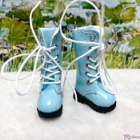 16cm Lati Yellow Blythe Pullip Shoes PU Leather Long Boots Blue LYS026BLE