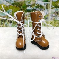 16cm Lati Yellow Blythe Pullip Shoes PU Leather Long Boots Brown LYS026BRN