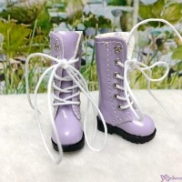 16cm Lati Yellow Blythe Pullip Shoes PU Leather Long Boots Purple LYS026PUE