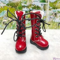 16cm Lati Yellow Blythe Pullip Shoes PU Leather Long Boots Red LYS026RED