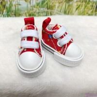 Blythe Pullip Doll Denim Shoes Color Dots Sneaker RED SHP008RED