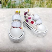 Blythe Pullip Doll Denim Shoes Color Dots Sneaker WHITE SHP008WHE