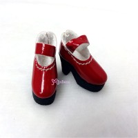 SHP116RED Blythe Momoko Maryjane Shoes High Heel Boots Red