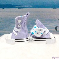 Blythe Pullip Denim MICRO Shoes Folded Boots Purple SHP188PUE