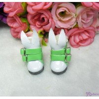 1/6 Bjd Doll Shoes Bunny Ear Buckle Boots Green SHP192GRN